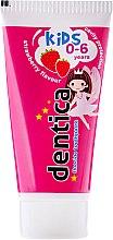 """Parfumuri și produse cosmetice Pasta de dinți pentru copii """"Căpșuni"""" - Dentica Dental Protection For Kids"""