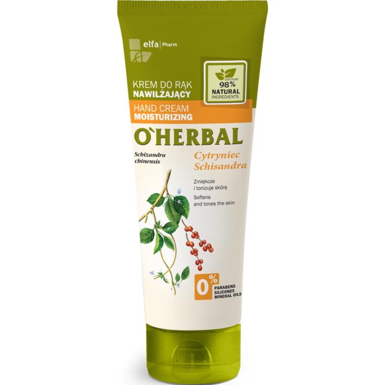 Cremă hidratantă pentru mâini cu extract de magnolie - O'Herbal Moisturizing Hand Cream With Schisandra Extract