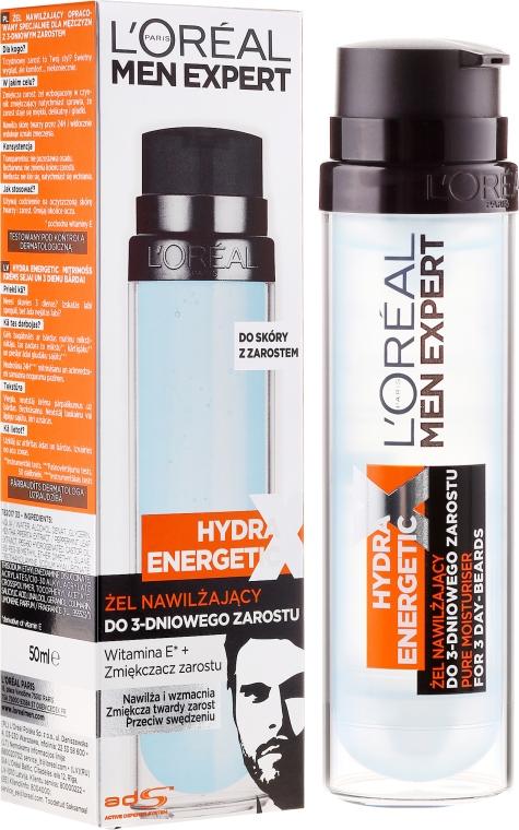 Gel hidratant pentru barbă aspră - L'Oreal Paris Men Expert Hydra Energetic X — Imagine N1