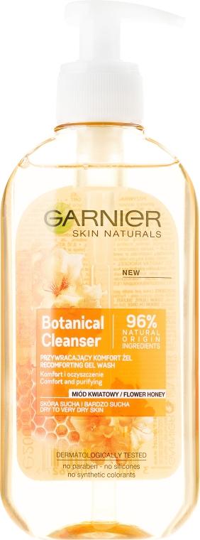 Gel de spălare - Garnier Skin Naturals Botanical Flower Honey — Imagine N1