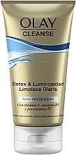 Parfumuri și produse cosmetice Gel-scrub de curățare pentru față - Olay Cleanse Detox & Luminosity Facial Cleansing Gel