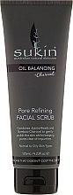 Parfumuri și produse cosmetice Scrub de față - Sukin Oil Balancing Plus Charcoal Pore Refining Facial Scrub