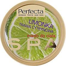 "Parfumuri și produse cosmetice Unt de corp ""Lime și Lemongrass"" - Perfecta Spa Energizing Lime & Lemongrass Body Butter"