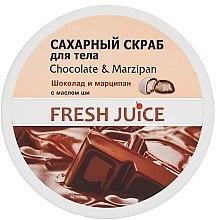 Parfumuri și produse cosmetice Scrub cu zahar pentru corp - Fresh Juice Chocolate and Marzipan