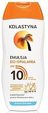 Parfumuri și produse cosmetice Emulsie de protecție pentru bronzare SPF 10 - Kolastyna