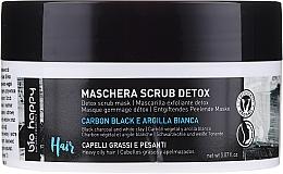 Parfumuri și produse cosmetice Mască-scrub pentru păr - Bio Happy Carbon Black & White Clay Scrub Mask