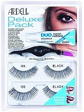 Духи, Парфюмерия, косметика Набор накладных ресницы - Ardell Eyelash 105 Deluxe Kit Black