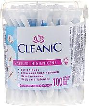 """Parfumuri și produse cosmetice Bețișoare de vată """"Classic"""", 100 buc. - Cleanic Face Care Cotton Buds"""