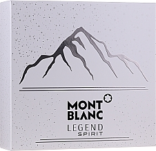 Parfumuri și produse cosmetice Montblanc Legend Spirit - Set (edt/100ml + ash/balm/100ml + sh/gel/100ml)