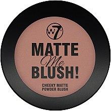 Parfumuri și produse cosmetice Pudră matifiantă - W7 Matte Me Blush Powder