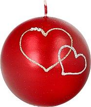 Parfumuri și produse cosmetice Lumânare decorativă, minge roșie, 8 cm - Artman Forever