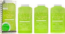 "Parfumuri și produse cosmetice Набор для педикюра ""Зелёный чай"" - Voesh Pedi In A Box 3 In 1 Deluxe Pedicure Green Tea (35 g)"