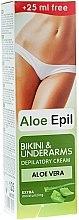"""Parfumuri și produse cosmetice Cremă pentru depilarea zonelor bikini și sub braț """"Aloe"""" - Aloe Epil"""
