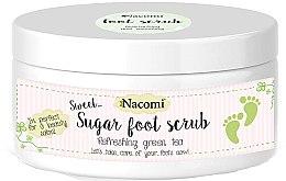 Parfumuri și produse cosmetice Scrub din zahăr pentru picioare cu ceai verde - Nacomi Sugar Foot Peeling