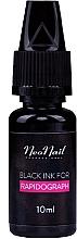Parfumuri și produse cosmetice Cerneală pentru rapidograf, neagră - NeoNail Professional Black Ink For Rapidograph