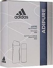 Parfumuri și produse cosmetice Set - Adidas Adipure Men (sh/gel/250ml + deo/spray/150ml)