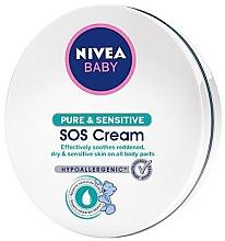 Parfumuri și produse cosmetice Cremă calmantă pentru bebeluși - Nivea Baby Pure & Sensitive SOS Cream