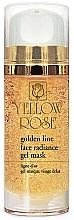 Parfumuri și produse cosmetice Mască-gel cu aur pentru față - Yellow Rose Golden Line Face Radiance Gel Mask