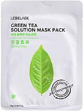 Parfumuri și produse cosmetice Mască de țesut pentru față - Lebelage Green Tea Solution Mask