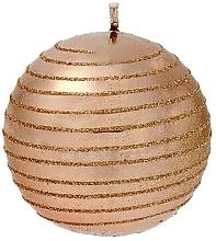 Parfumuri și produse cosmetice Lumânare decorativă, bilă, aur roz, 8 cm - Artman Glamour