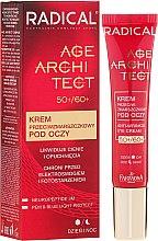 Parfumuri și produse cosmetice Cremă împotriva ridurilor și cercurilor întunecate din jurul ochilor - Farmona Radical Age Architect Anti Wrinkle Eye Cream 60+