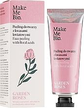 Parfumuri și produse cosmetice Peeling cu acizi florali pentru față - Make Me Bio Garden Roses Face Peeling With Floral Acids