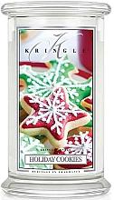 Parfumuri și produse cosmetice Lumânare aromată în suport de steclă - Kringle Candle Holiday Cookies