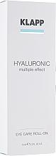 Parfumuri și produse cosmetice Gel pentru pleoape - Klapp Hyaluronic Eye Roll-On