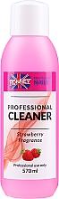 """Parfumuri și produse cosmetice Degresant pentru unghii """"Căpșună"""" - Ronney Professional Nail Cleaner Strawberry"""