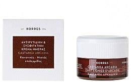 Parfumuri și produse cosmetice Cremă de zi intensă împotriva ridurilor cu caștan - Korres Castanea Arcadia Antiwrinkle&Firming Day Cream For Dry and Very Dry Skin