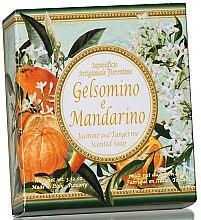 """Parfumuri și produse cosmetice Săpun natural """"Iasomie și Mandarină"""" - Saponificio Artigianale Fiorentino Jasmine & Tangerine Soap"""
