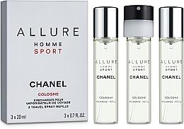 Parfumuri și produse cosmetice Chanel Allure Homme Sport Cologne - Apă de toaletă (+2 rezerve)