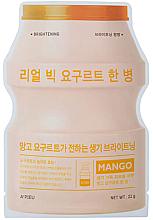 """Parfumuri și produse cosmetice Mască de față """"Iaurt și mango"""" - A'Pieu Real Big Yogurt One-Bottle Mango"""
