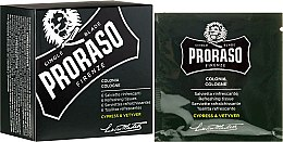 Parfumuri și produse cosmetice Șervețele revigorante pentru față și barbă - Proraso Cypress & Vetyver Refreshing Tissues