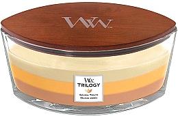 Parfumuri și produse cosmetice Lumânare parfumată în suport de sticlă - WoodWick Golden Treats Ellipse Candle
