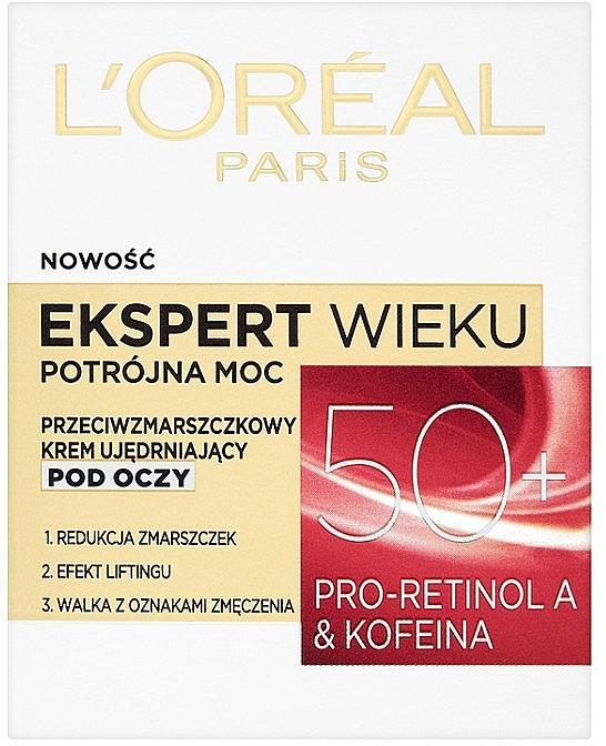 Cremă pentru conturul ochilor - L'Oreal Paris Age Specialist Expert Eye Cream 50+