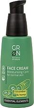 Parfumuri și produse cosmetice Cremă de față - GRN Essential Elements Cucumber & Hemp Face Cream