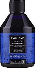 Parfumuri și produse cosmetice Şampon cu extract de migdale pentru neutralizarea nuanțele de portocaliu și cupru - Black Professional Line Platinum No Orange Shampoo With Organic Almond Extract