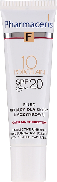 Fluid-corector de față - Pharmaceris F Capilar-Correction Fluid SPF20 — Imagine N3