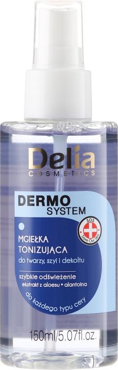Spray tonifiant pentru față, gât și decolteu - Delia Dermo System