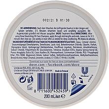 """Mască pentru păr uscat """"Îngrijire nutritivă"""" - Dove Nutritive Solutions — Imagine N2"""
