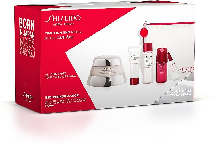 Set - Shiseido Bio-Performance Time Fighting Ritual (cr/50ml + conc/10ml + foam/15ml + softner/30ml + conc/3ml + bag)