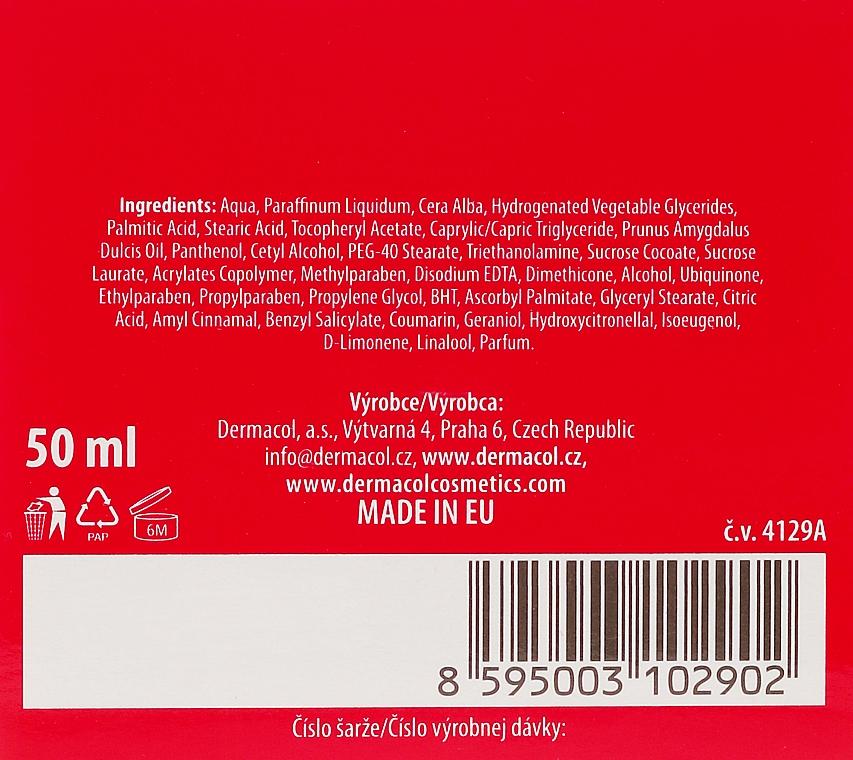 Cremă de noapte pentru față - Dermacol Natural Almond Oil Nourishing Care Cream — Imagine N3