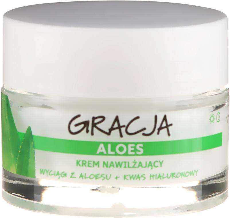 Cremă hidratantă antirid cu aloe și acid hialuronic - Miraculum Gracja Aloe Moisturizing Face Cream — Imagine N2