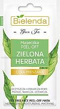 Parfumuri și produse cosmetice Mască exfoliantă pentru pielea combinată - Bielenda Green Tea Peel-Off Face Mask