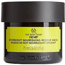 """Parfumuri și produse cosmetice Mască de noapte """"Cânepă"""" - The Body Shop Hemp Overnight Nourishing Rescue Mask (mini)"""