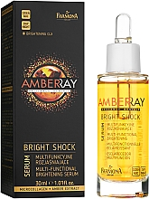 Ser multifuncțional cu extract de chihlimbar - Farmona Amberray Bright Shock Serum — Imagine N1