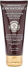 Parfumuri și produse cosmetice Cremă de față - Recipe For Men RAW Naturals The Grease-Free Face Cream