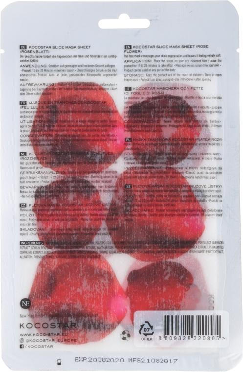 """Лифтинг маска-слайс для лица """"Роза"""" - Kocostar Slice Mask Sheet Rose — фото N2"""