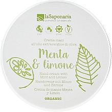 """Parfumuri și produse cosmetice Cremă de mâini """"Mentă și lămâie"""" - La Saponaria Hand Cream Mint and Lemon"""